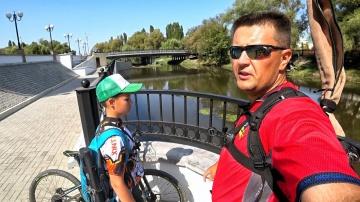 Рыбалка на велосипеде с Глебусом