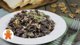 Постный салат из красной фасоли с орехами |Рецепт