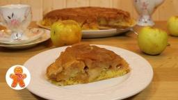 Янтарный яблочный пирог/торт Татьяны Толстой |Рецепт