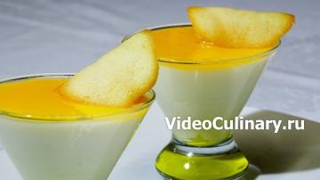 Лимонный мусс с французским сахарным печеньем - Рецепт бабушки Эммы