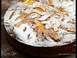 Юлия Высоцкая — Миндальный торт с персиками