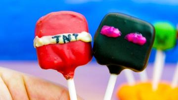 Майнкрафт эндермен и тнт конфеты как сделать их дома | Канал Познаватель