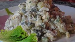 Обалденно вкусный салат с сельдью и  с горошком | Рецепт Светланы Черновой