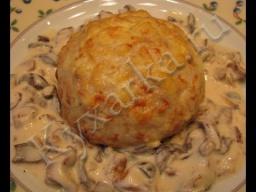Ирина Хлебникова -  Куриные колобки с грибами (зразы)  Рецепт
