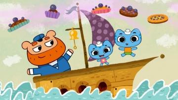 Котики вперед-Прыг-да-скок черничный пирог 1 серия Мультфильмы для Малышей