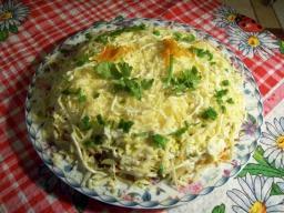 Салат Везувий- вкусный и сытный салатик с печенкой. | Рецепт Светланы Черновой