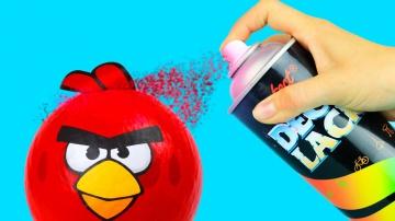 Трум Трум  Вечеринка в стиле Angry Birds —  5 аксессуаров своими руками