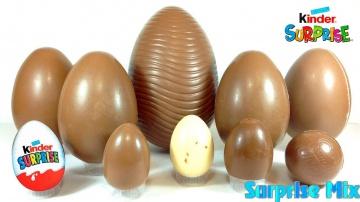 Шоколадные яйца без фольги  мультики киндер сюрприз Макси