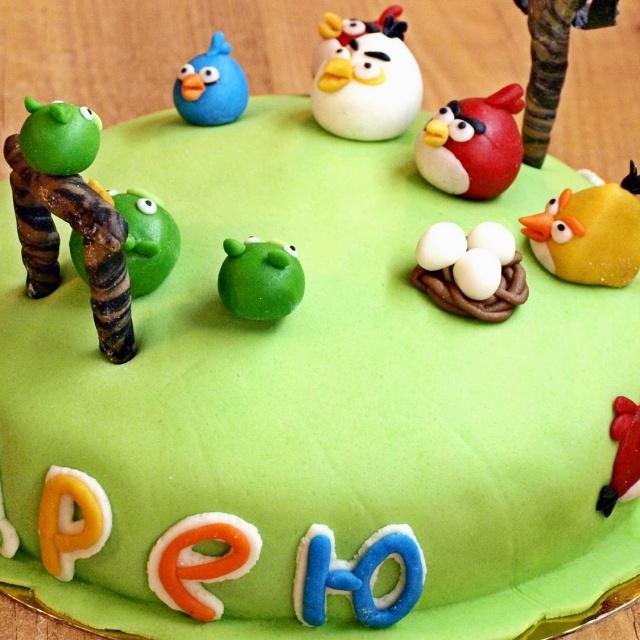 Торт из мастики на День рождения | Видео рецепт