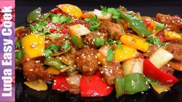 LudaEasyCook Нежная говядина по-китайски в кисло-сладком соусе