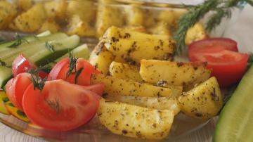 Калинина Наталья  Картофель запеченный в духовке. Очень Вкусный Картофельный Гарнир!