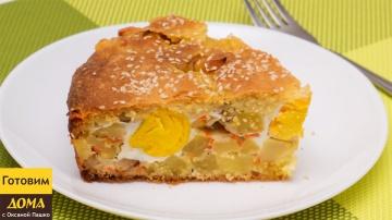 Оксана Пашко - Пирог с беконом, картофелем и яйцами