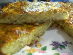 Пирог-запеканка из тертого картофеля с сыром и чесноком | Рецепт Светланы Черновой