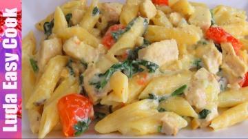 Позитивная Кухня ВКУСНАЯ ПАСТА ПЕННЕ рецепт с Курицей в Сливочном Соусе в Одной Кастрюле - One pot P