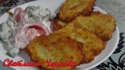 Драники из картофеля с кабачком | Рецепт Светланы Черновой