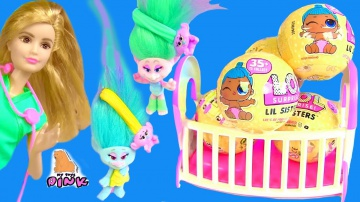 #Куклы ЛОЛ Пупсики - ДЕТИ БАРБИ И ДЕТИ ТРОЛЛЕЙ! Барби Мультики! Тролли Мультик с Игрушками