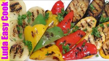Позитивная Кухня ОБАЛДЕННЫЕ ОВОЩИ ГРИЛЬ + АРОМАТНЫЙ МАРИНАД Вкусный овощной гарнир LudaEasyCook