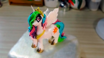 Я ТОРТодел Mай литл пони принцесса Cелестия из мастики /Princess celestia in My Little Pony Toys -Я
