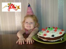 Готовим праздничный торт на День рождения брата. Prepare cake on the Day of the brother 's birthday.