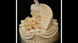Свадебный торт. Как украсить торт на свадьбу мастикой. Часть 1