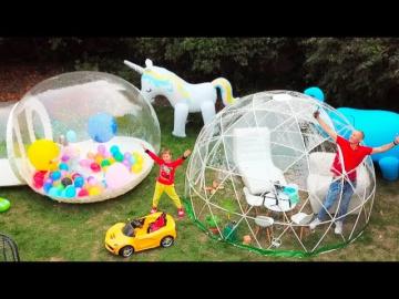 Мистер Макс Макс и папа построили новый игровой DIY домик для детей / Max and papa build new play ho