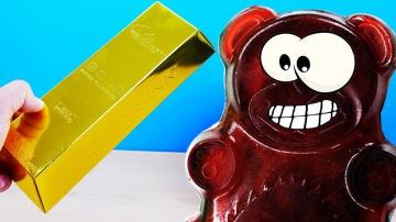 Золотой подарок для желейного медведя Валеры
