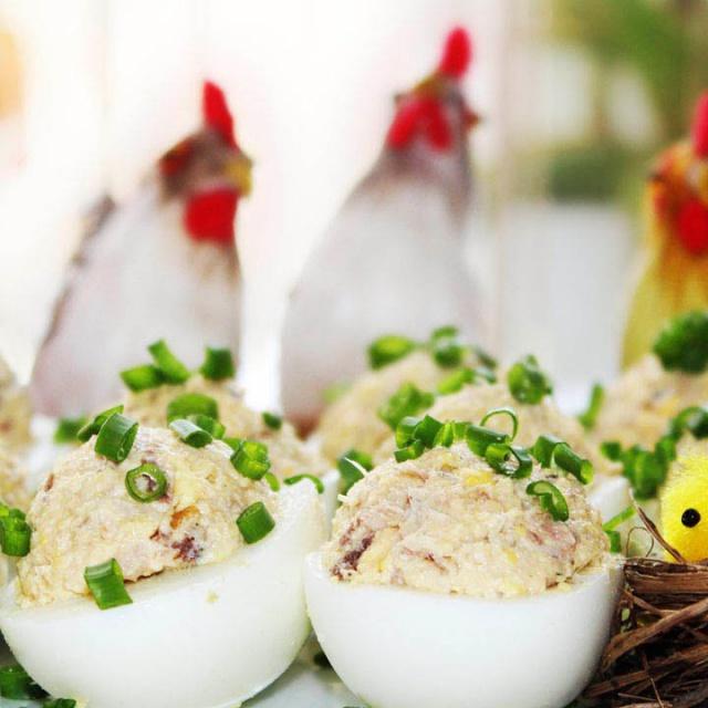 """Фаршированные яйца """"Мимоза"""""""