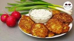 Видео -  ДРАНИКИ без муки  Нежные картофельные оладьи со сметанным соусом  Potato Fritters