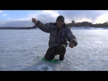 Озеро Петровское Алтайский край рыбалка на окуня зимой 2015г.