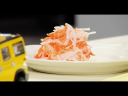 Лазерсон Гарнир из свежей моркови и дайкона к  жареной рыбе Обед безбрачия