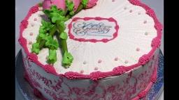 Светлана кесслер Оформление тортика Белково-маслянным кремом.