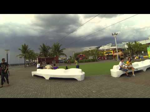 Филиппины супер отдых. Прогулка по набережной в Манила Торговый центр, парк развлечений 2015 ч 2
