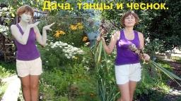 Ольга Уголок -  Дачный обзор.Уборка зимнего чеснока. Танцы на даче.