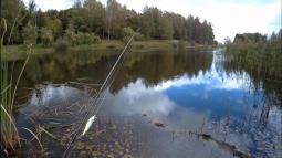 Проснулся, взял спиннинг и пошёл на рыбалку