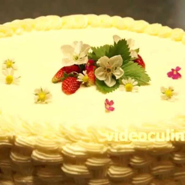 Украшение тортов - Плетеная корзинка из крема - Рецепт от Бабушки Эммы