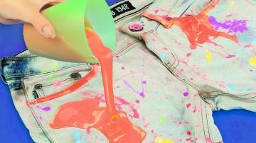 Трум Трум  Как покрасить ткань и нанести рисунок на одежду -  7 способов