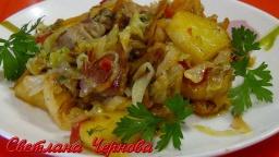 Овощи с Мясом - Готовим в Сковороде | Рецепт Светланы Черновой
