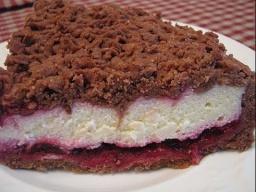 Творожный пирог с какао и вишней |Рецепт