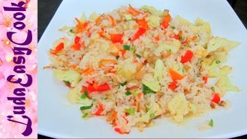 LudaEasyCook Вкусный ПЛОВ за 20 минут с овощами Рецепт Вьетнамской кухни Жареный рис - PILAV recipe
