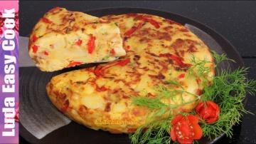 Позитивная Кухня ВКУСНАЯ КАРТОФЕЛЬНАЯ ЗАПЕКАНКА НА СКОВОРОДЕ по-испански ТОРТИЛЬЯ рецепт | POTATO AN