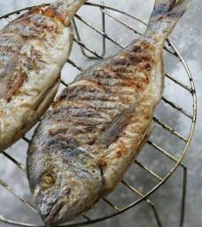 Юлия Высоцкая — Маринованная рыба на гриле