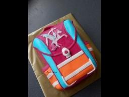 """3д торт""""Школьный ранец"""" часть 3 Schulranzen Torte"""