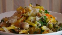 Светлана Чернова -  Салат закусочный-очень простая и вкусная постная закуска (Vegetable salad)
