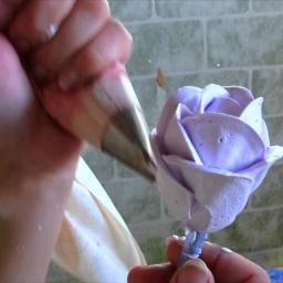Украшение тортов белковым кремом. Видео урок. Розы из белкового крема