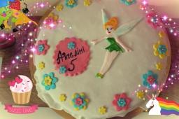 Торт из мастики фея Динь-динь\\ Торт с клубничным муссом\\Cake mastic