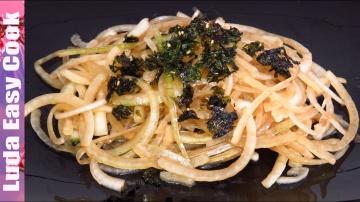 Позитивная Кухня Вкусный японский салат с луком и обалденной легкой заправкой