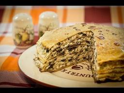 Алена Митрофанова -  Блинный пирог с курицей и грибами