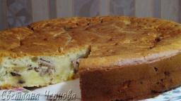 Заливной пирог с картофелем и рыбной консервой /Priming pie with potatoes and canned fish | Рецепт С