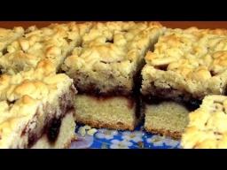 Песочный пирог с повидлом рецепт - Легкий домашний