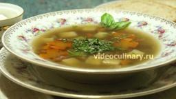 Постный суп с чечевицей - Рецепт Бабушки Эммы